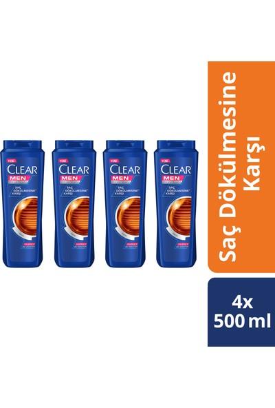 Clear Erkek Şampuan Saç Dökülmesine Karşı Etkin Savunma 500 Ml X4