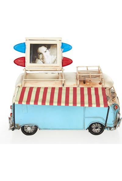 Camper Van Çerçeveli Kalemlikli Tenteli Vosvos Minibüs