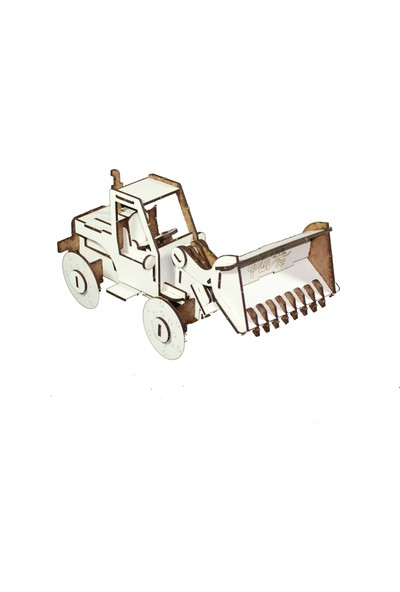 Joy And Toys 3D Ahşap Puzzle - İş Makinesi