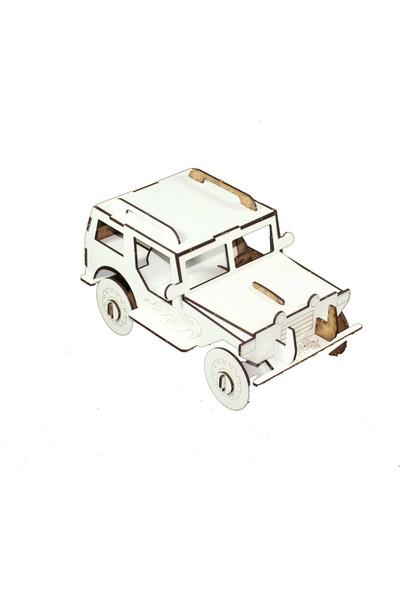 Joy And Toys 3D Ahşap Puzzle - Jeep