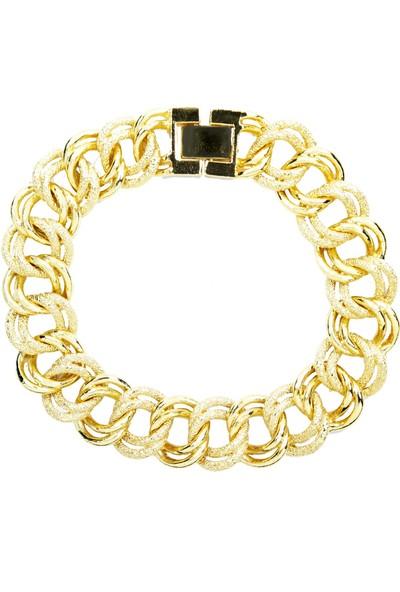 Chewel 22 Ayar Altın Kaplama Bileklik