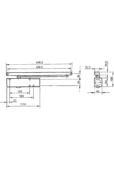 Geze Ts 1500 En3 Kapı Hidroliği Kapı Kapatıcı Hidrolik