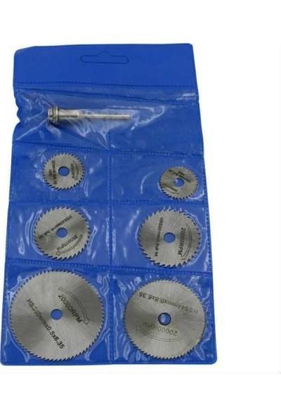 Mini Dairesel Testere Bıçağı 7 Li Parça Set Döner Dremel Ahşap, Plastik, Laminat Ve Alüminyum