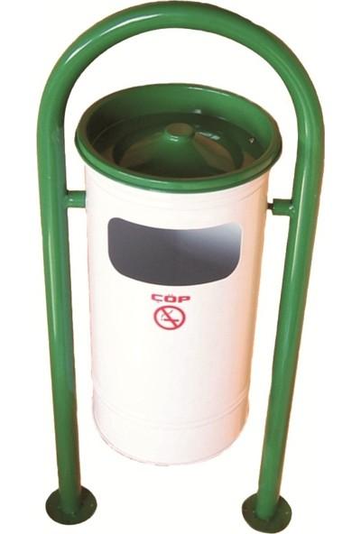 Şah Dış Alan Çöp Kovası 2 Ayaklı Bahçe Tipi