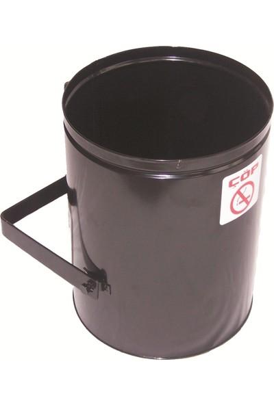 Şah Dış Alan Çöp Kovası Direk Tipi Ağzı Açık