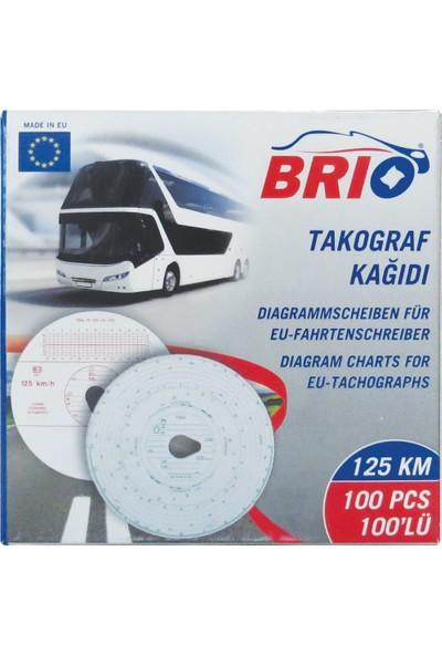 Brio Takograf Kağıdı 125 Km 100 Lü