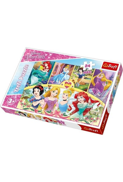 Trefl Çocuk Puzzle The Magic of Memories / Disney Princ 24 Parça Maxi Puzzle