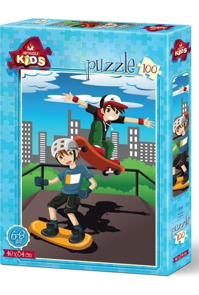 Art Çocuk Puzzle Kaykay 100 Parça Puzzle