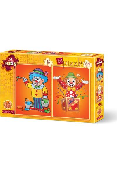 Art Çocuk Puzzle Palyaço 12+24 Parça Puzzle