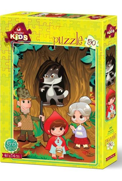 Art Çocuk Puzzle Pelerinli Kız 50 Parça Puzzle