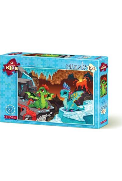 Art Çocuk Puzzle Bebek Ejderhalar 100 Parça Puzzle