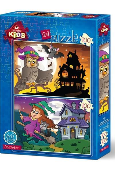 Art Çocuk Puzzle Baykuş ve Tatlı Cadı 2x100 Parça Puzzle