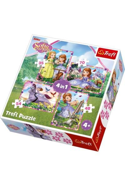 Trefl Çocuk Puzzle Sofia's World / Disney Sofia The Firs 35+48+54+70 Parça 4 in 1 Puzzle