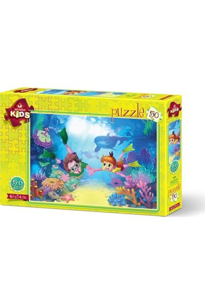 Art Çocuk Puzzle Dalgıç Çocuklar 50 Parça Puzzle