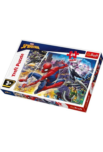 Trefl Çocuk Puzzle Fearless Spiderman 24 Parça Maxi Puzzle