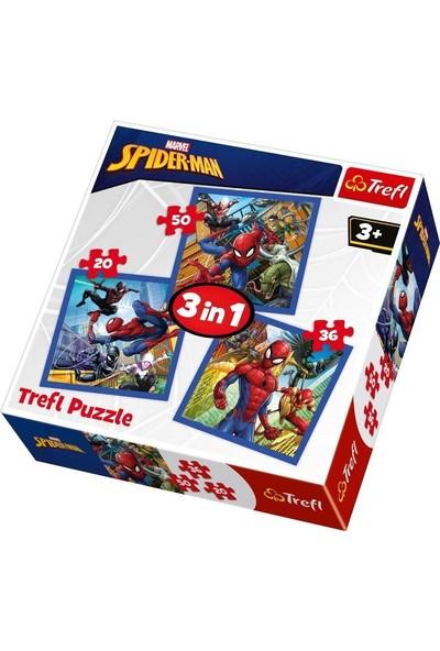 Trefl Çocuk Puzzle Spider Force / Disney Marvel Spiderman 20+36+50 Parça 3 in 1 Puzzle