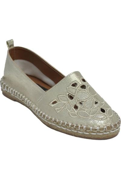 David Jones Kadın Espadril Ayakkabı Dore