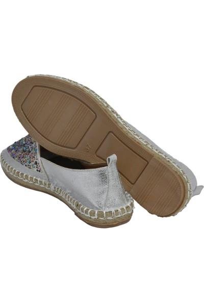 David Jones Kadın Espadril Ayakkabı Lame