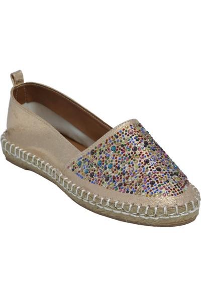 David Jones Kadın Espadril Ayakkabı Bronz