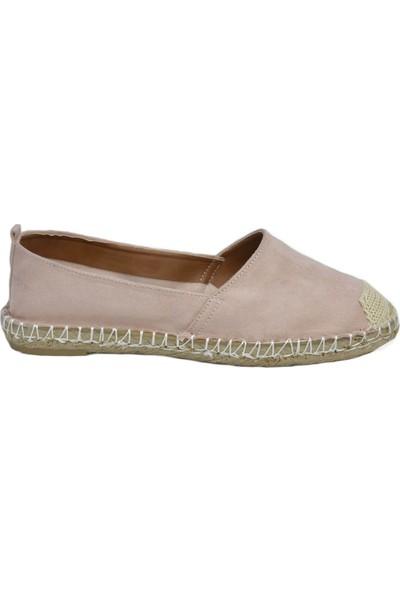 David Jones Kadın Espadril Ayakkabı Toz Pembe Süet
