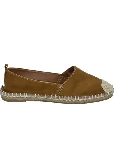 David Jones Kadın Espadril Ayakkabı Tarçın Süet