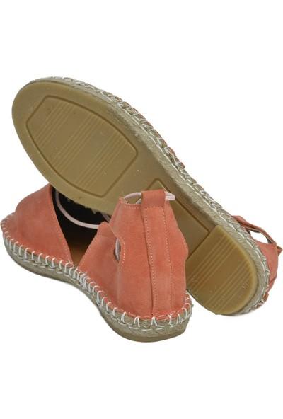 David Jones Kadın Espadril Ayakkabı Turuncu Süet