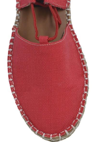 David Jones Kadın Espadril Ayakkabı Kırmızı