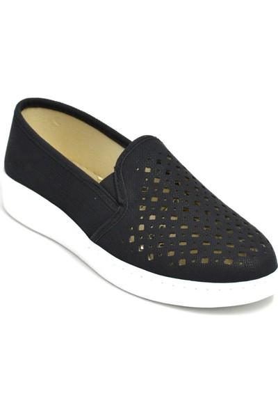 David Jones Kadın Lazer Kesim Ayakkabı Siyah