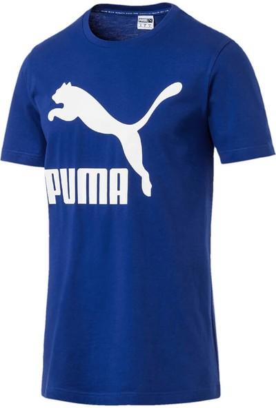 Puma Classics Logo Tee Mavi Erkek T-Shirt