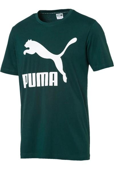 Puma Classics Logo Tee Haki Erkek T-Shirt