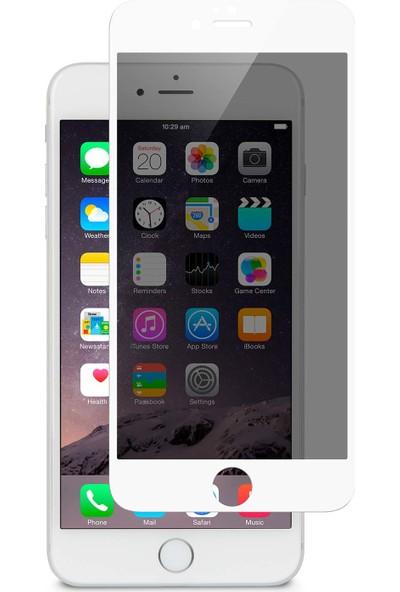 AkseStore Apple iPhone 6S Gizli 5D Hayalet Ekran Koruyucu Cam (Beyaz)
