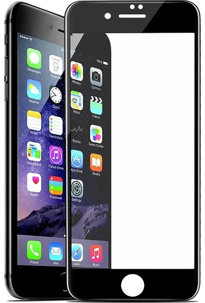 AkseStore Apple iPhone 8 Gerçek 5D Kavisli Ekran Koruyucu Cam (Siyah)