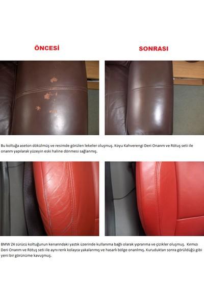 Furniture Clinic Deri Onarım Ve Rötuş Boya Seti – 200 ml-Kırmızı