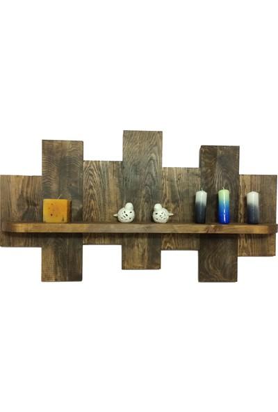 Variant Wood Masif Ahşap Duvar Rafı