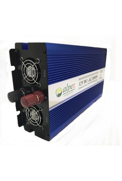 Alpex 2000 Watt 12 Volt Modifiye Sinüs İnverter