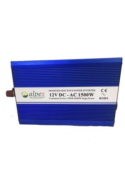 Alpex 1500 Watt 12 Volt Modifiye Sinüs İnverter