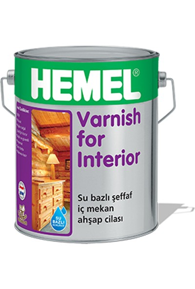 Hemel Varnish For Interior Su Bazlı Aqua Cila İç Mekan 15 Lt
