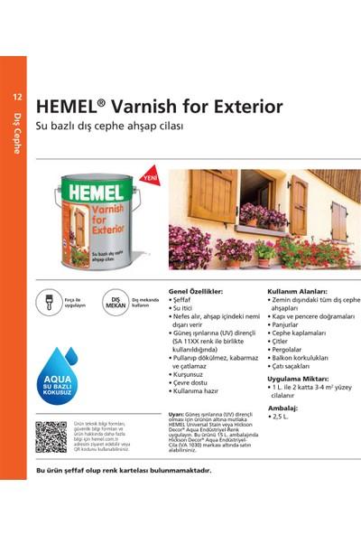 Hemel Varnish For Exterior Su Bazlı Aqua Cila Dış Mekan 2.5 Lt