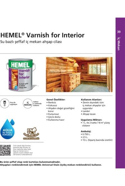 Hemel Varnish For Interior Su Bazlı Aqua Lambri Cila İç Mekan 0,75 Lt