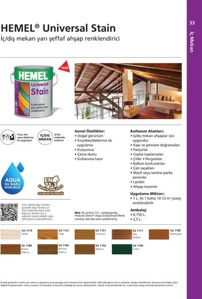 Hemel Universal Stain Su Bazlı Aqua Renk İç Dış Mekan 0,75 Lt