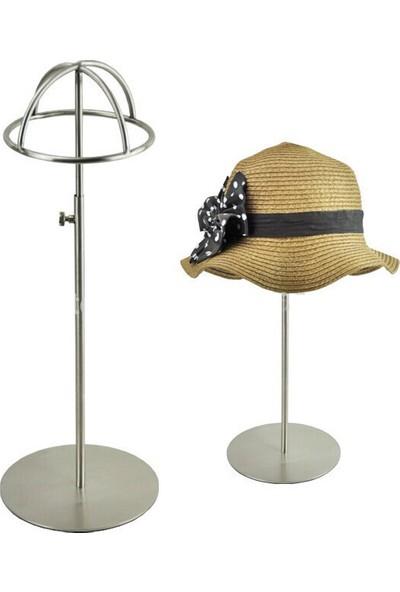 Simge Yapı Dekorasyon Yükseklik Ayarlı Ayaklı Şapkalık Metal Siyah Renk - Şapka Tutucu