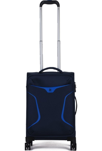 It Luggage Kumaş Kabin Boy Valiz It2265-S Siyah/Mavi
