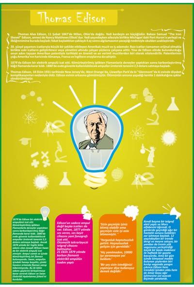 Sınıf Sepeti Thomas Edison Posteri 35 x 50 cm