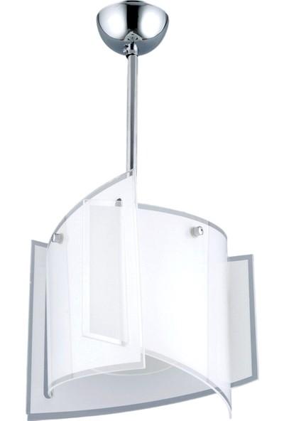 Avonni AV-6320-1B Krom/Beyaz Kaplama Modern Avize
