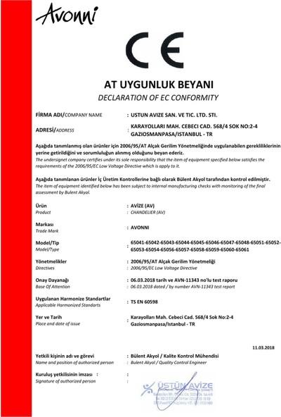 AVONNI AV-65058-3ET Eskitme/Siyah Kaplama Modern Avize E27 Metal 40cm