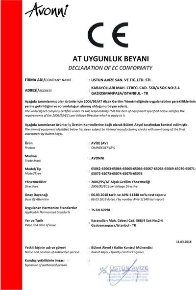 Avonni AV-65076-2Y-KRM Krem Boyalı Avize