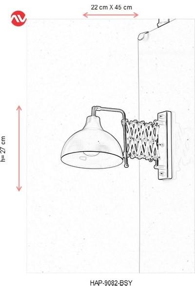 Avonni HAP-9082-BSY Siyah Boyalı Aplik