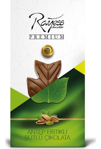 Rayess 100 gr Sütlü Fıstıklı Tablet Çikolata