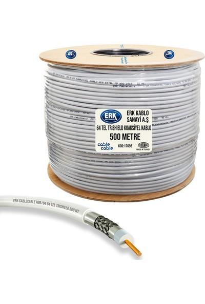 Erk Uydu Anten Kablosu Rg6/U4 64Tel Trıshıeld 500 Metre