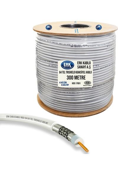 Erk Uydu Anten Kablosu Rg6/U4 64Tel Trıshıeld 300 Metre